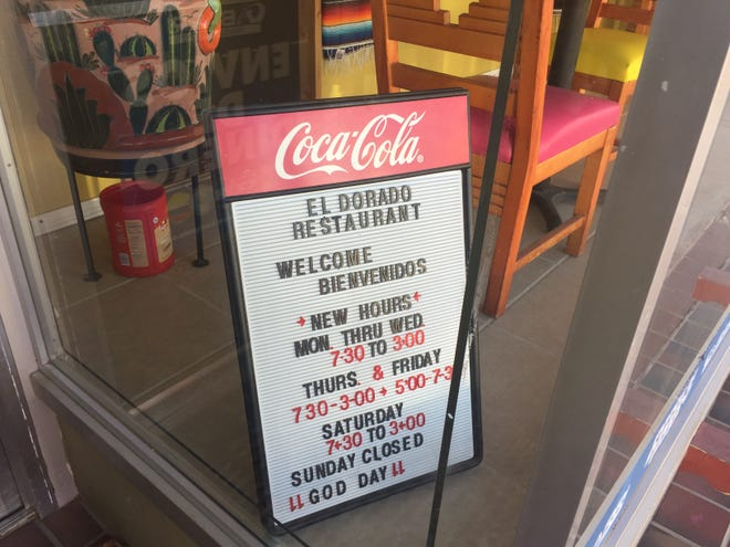 A sign at the El Dorado Restaurant in downtown Artesia welcomes customers on March 17, 2021. A COVID-19 recovery plan for Southeast New Mexico is in the works by multiple entities.