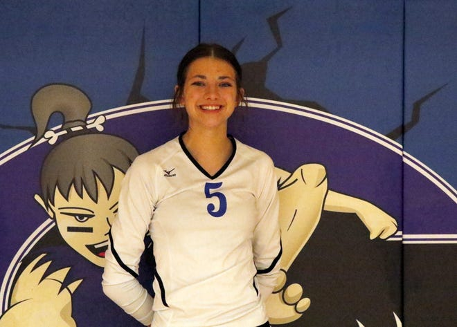 Sophomore setter and outside hitter Brynlee Daughtry