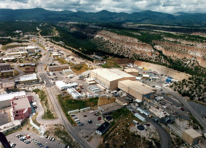 This undated file aerial photo shows the Los Alamos National laboratory in Los Alamos, N.M. (The Albuquerque Journal via AP, File)