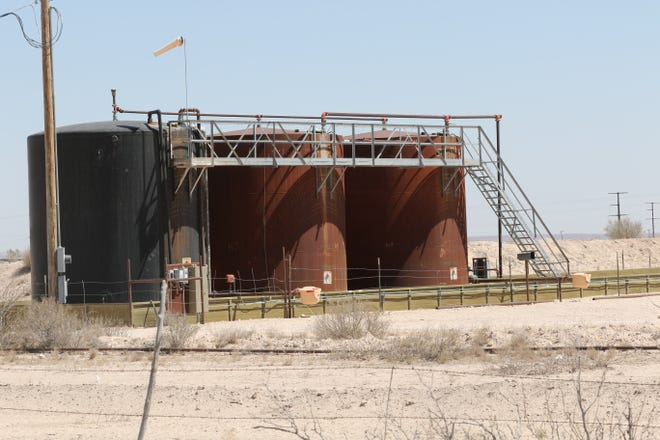 Oil and gas facilities are observed during a field tour with Earthworks, April 7, 2021 in southern Eddy County.
