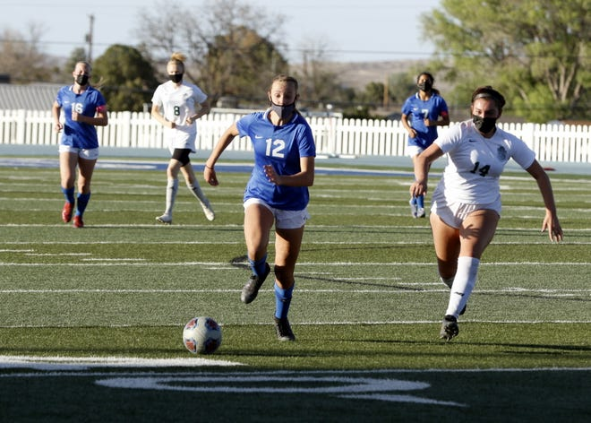 Photo highlights of the Carlsbad girls soccer team against Rio Rancho in the 5A semifinals on April 8, 2021. Carlsbad won, 3-2 and advances to the state title for the first time in school history.