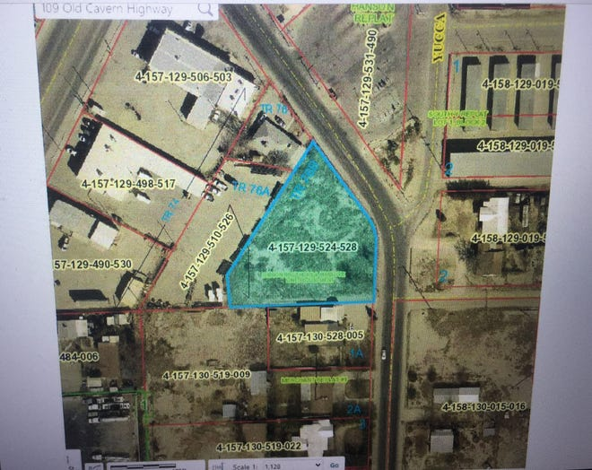 A screen capture from the April 13, 2021 Carlsbad City Council meeting showed nearly an acre of land BES Properties wanted to consolidate with another piece of property on Old Cavern Highway.