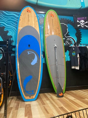 Kayaks and paddleboards are available at Zia Bike & Board Shop.