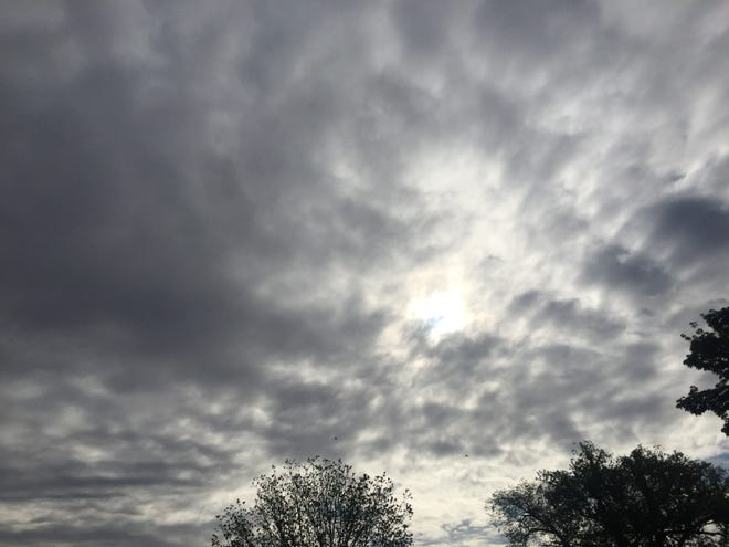 Clouds covered Eddy County on April 30, 2021. Around two inches of rainfall was recorded in some places around Carlsbad after a storm system brought needed rains to Eddy County.