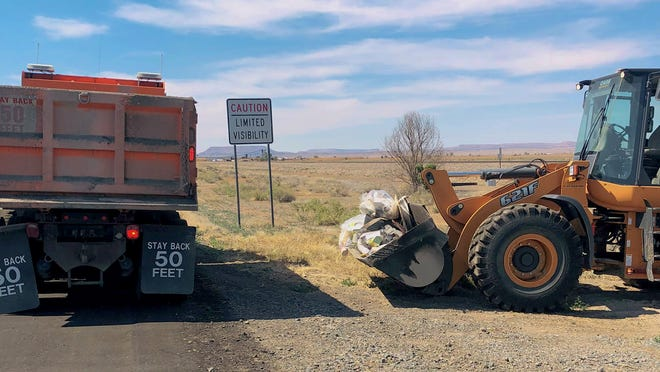 New Mexico Department of Transportation crews spent June 5, 2021 cleaning up roadside litter in all parts of New Mexico during a statewide cleanup. Nearly 3,000 pounds of trash was picked up along U.S. 285 around Carlsbad.