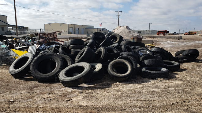 Tires were just part of nearly 18 tons of trash picked up across New Mexico by New Mexico Department of Transportation workers during a trash cleanup.