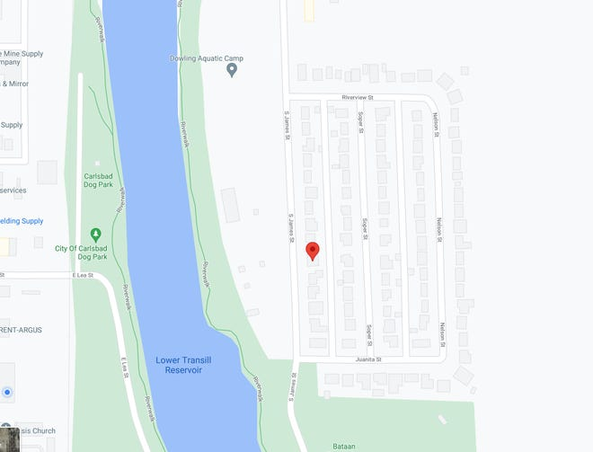 Neighborhoods behind Lower Tansill Dam and Resevoir are being evacuated as the Pecos River breaches its banks June 29, 2021.