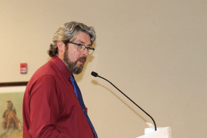 City of Carlsbad Planning Director Jeff Patterson talks property annexation and zoning changes during the June 8, 2021 Carlsbad City Council meeting.