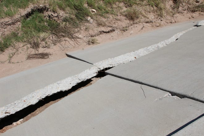 Damage estimates to the Callaway Drive water crossing was $264,000 from flooding rains last month in Carlsbad.