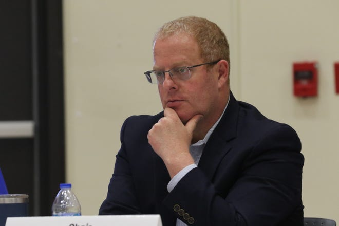 New Mexico Sen. Jeff Steinborn (D-36) participates in a panel discussion as chair of the Legislature's Radioactive and Hazardous Materials Committee, July 14, 2021 at New Mexico State University Carlsbad.