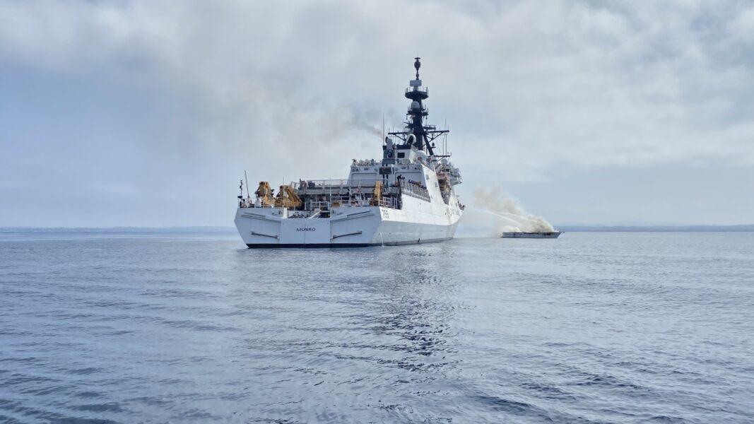Coast Guard extinguishes boat fire off Carlsbad coast