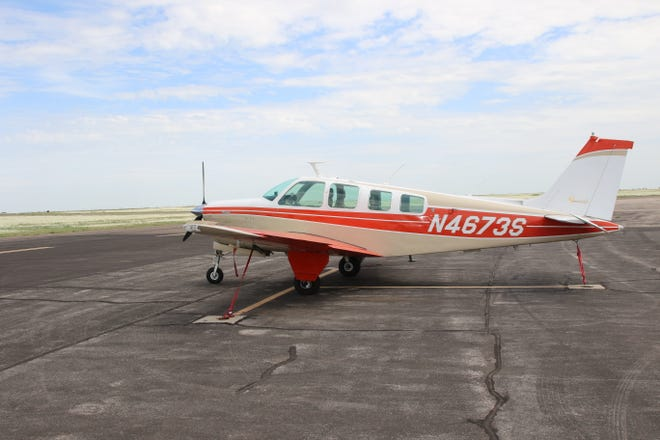 A plane parked at the Artesia Municipal Airport on July 27, 2021. Money from the American Rescue Plan Act would help with general maintenance and payroll, said Lance Goodrich, airport manager.