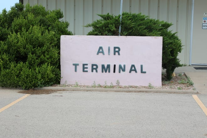 The air terminal building at the Artesia Municipal Airport greets visitors on July 27, 2021. The airport received $59,000 from the American Rescue Plan Act.