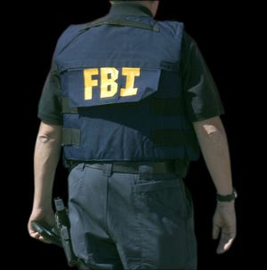 An FBI agent is shown in this file photo.