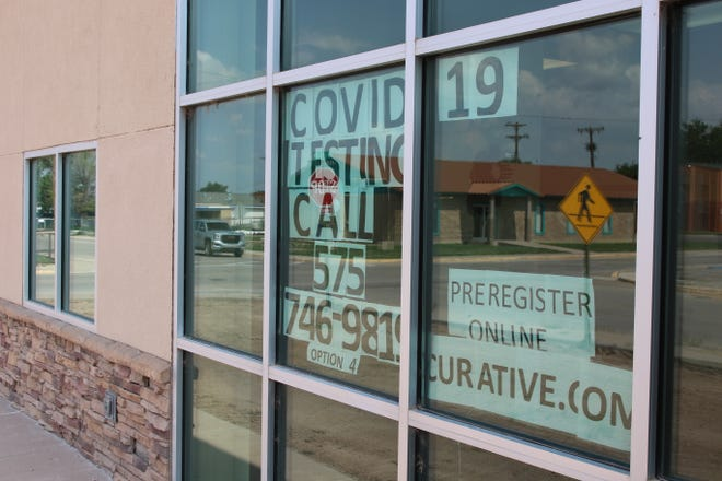 A sign at the Eddy County Public Health Office in Artesia reminds people to get tested for COVID-19. New Mexico Department of Health reported two new deaths in the County on July 22, 2021.