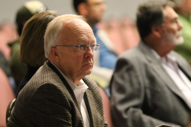 New Mexico State Rep. Jim Townsend attends a public meeting on produced water, Nov. 14, 2019 in Carlsbad.