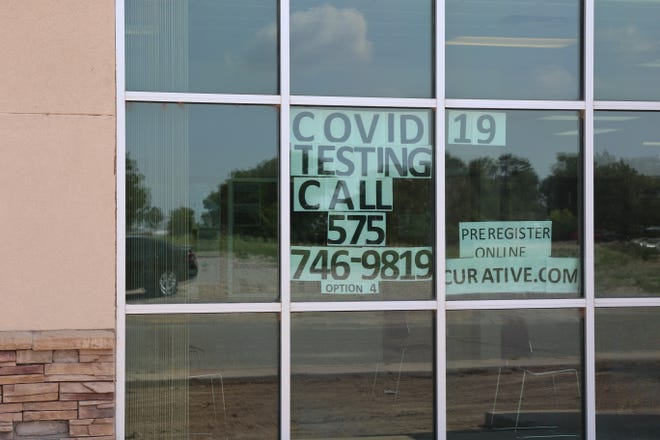 A sign at the Eddy County Public Health Office in Artesia reminds people to get tested for COVID-19 on July 20, 2021. COVID-19 cases increased recently in Eddy County, government officials said.