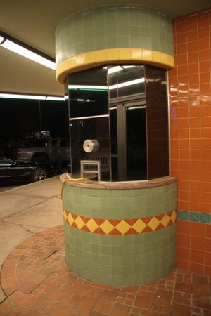 The ticket booth at the Cavern Theater.