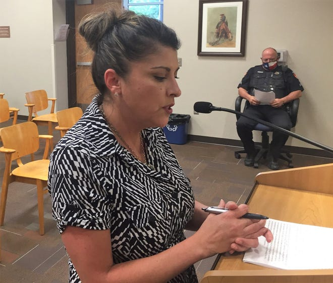 City of Carlsbad Municipal Services Director Angie Barrios-Testa explains the City of Carlsbad's Infrastructure Capital Improvement Plan (ICIP) to the Carlsbad City Council Aug. 10, 2021.