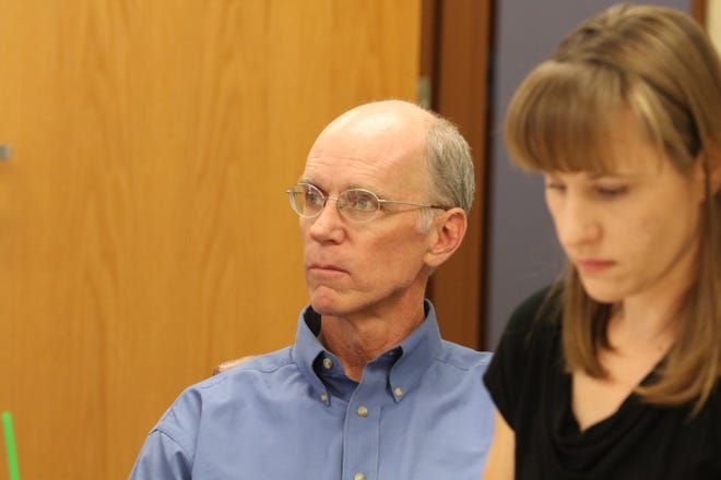 Ken Dugan, an attorney for the Carlsbad Irrigation District, attends a board meeting with the District, March 11, 2020 in Carlsbad.