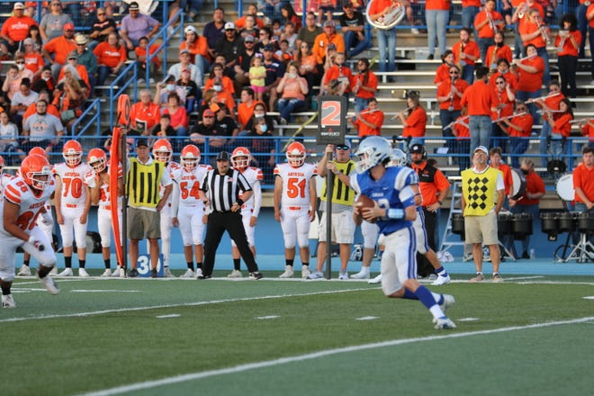 Carlsbad Cavemen face the Artesia Bulldogs Aug. 20 in the 105th Eddy County War at Ralph Bowyer Stadium in Carlsbad, New Mexico.