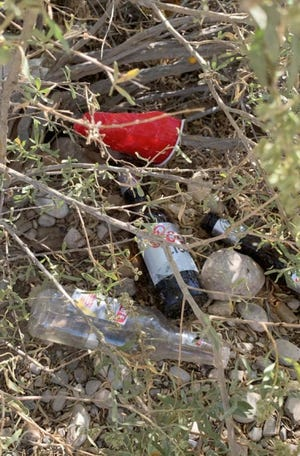 Litter found along the Pecos River for hundreds of miles prompted a regional wide cleanup project in New Mexico and Texas on Sept. 25, 2021.
