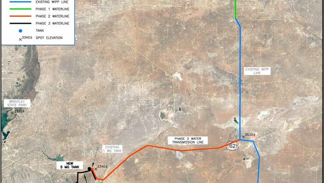 A map of the Double Eagle Water system