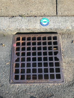 Storm water sewer; drains to the river