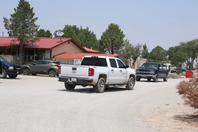 A pickup truck pulls into West Main RV Park in Artesia on Aug. 3, 2021. Eddy County Commissioners tabled a proposed tax increase for recreational vehicle parks, man-camps and hotels in the unincorporated areas of Eddy County.