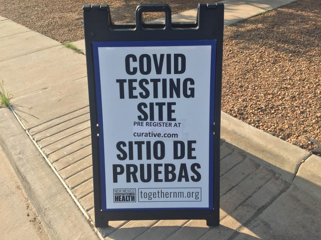 A sign at the Eddy County Public Health Office in Artesia reminds people to get tested for COVID-19 on Aug. 5, 2021. The New Mexico Department of Health reported three COVID-19 deaths in Eddy County as Aug. 5, 2021.