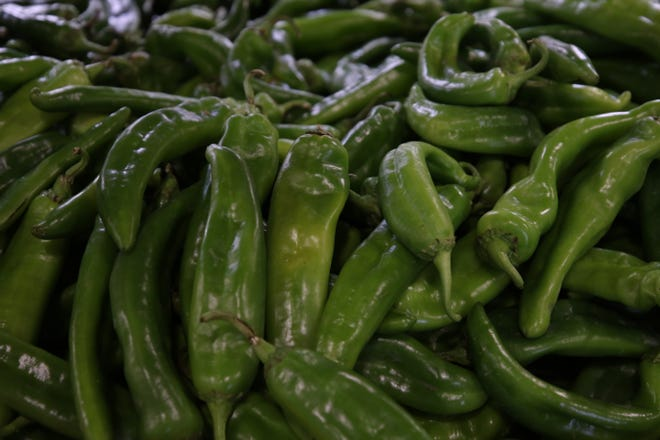 Albertsons offers a variety of products featuring Hatch green chiles, Oct. 6, 2021 in Carlsbad.