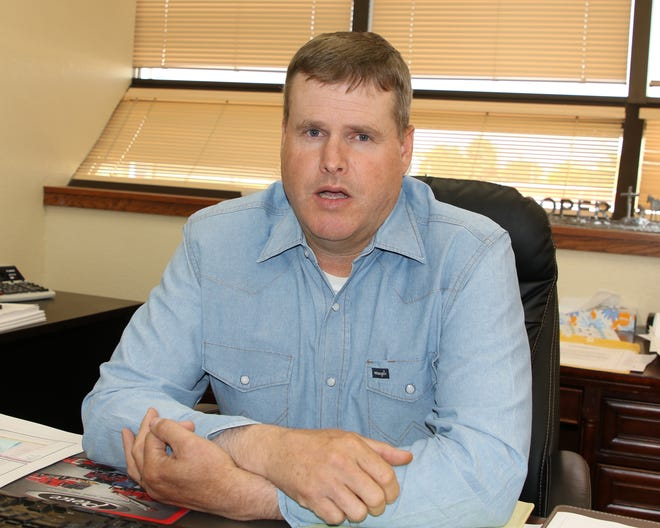 Eddy County Community Services Director Wesley Hooper said progress continued on a Southeast Loop Road near Carlsbad.