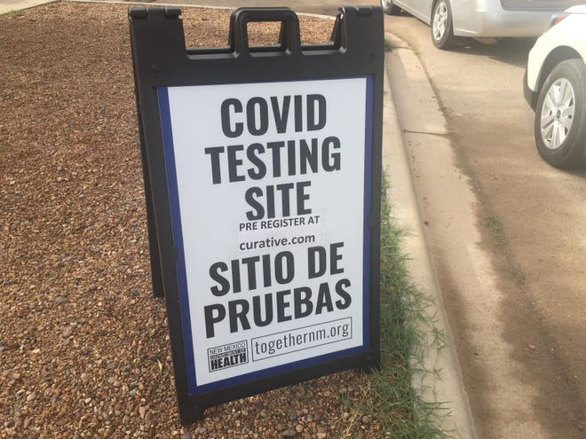 A sign at the Eddy County Public Health Office in Artesia indicates COVID-19 testing's performed on Sept. 2, 2021. Eddy County had 163 overall deaths as of Sept. 1, 2021.