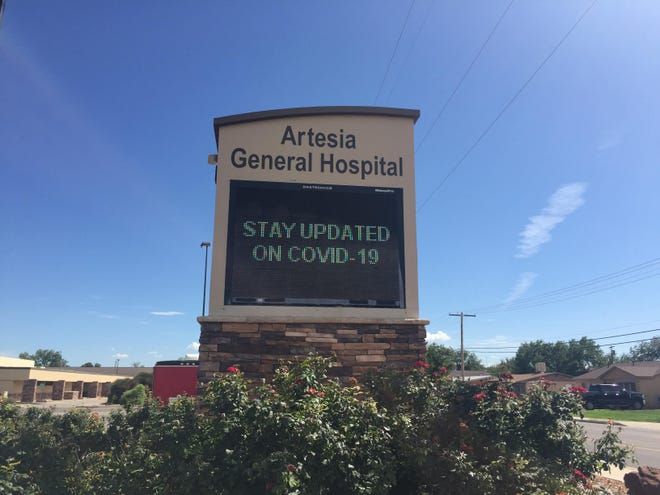 A sign outside Artesia General Hospital reminds people to stay updated on COVID-19 happenings. New Mexico Department of Health said COVID-19 cases in Eddy County increased during the weekend of Aug. 30, 2021.