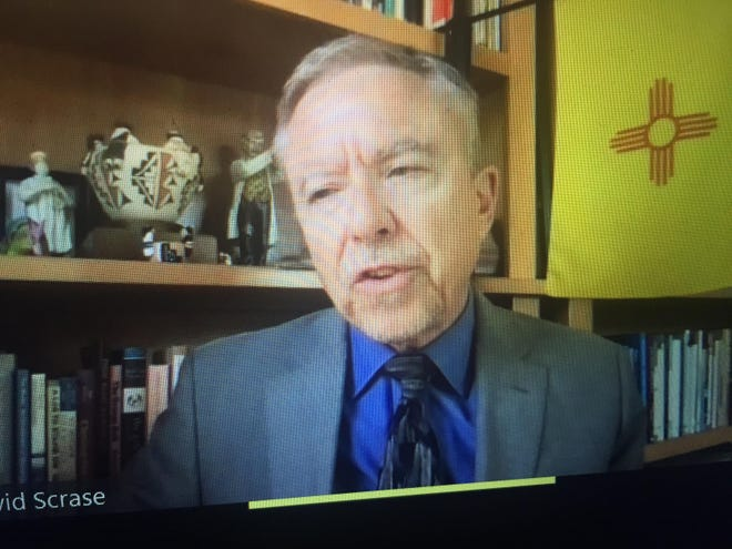 A screen capture of acting New Mexico Department of Health Secretary Dr. David Scrase addressing New Mexico media on Sept. 15, 2021.
