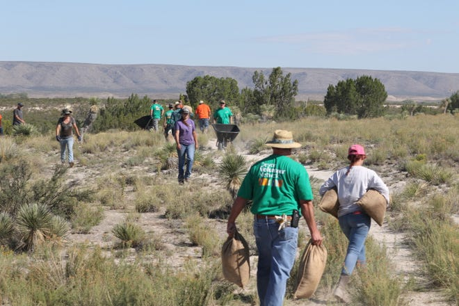Volunteers participate in the Bureau of Land Management's National Public Lands Days, Sept. 27, 2019 at Washington Ranch.