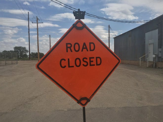 A road closed sign greets Artesia commuters on Sept. 1, 2021. Eddy County is home to major ongoing construction projects that could improve safety and relieve congestion.
