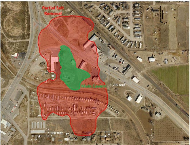 A map from the New Mexico Energy, Minerals and Natural Resources Department shows the Carlsbad Brine Well site.